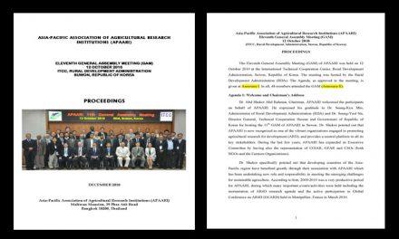 XI Meeting of the APAARI General Assembly Meeting