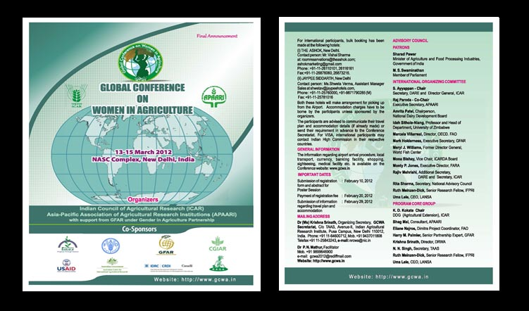 Global Conference on Women in Agriculture, 13-15 March 2012, New Delhi, India