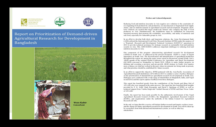 Report on Prioritization of Demand-driven Agricultural Research for Development in Bangladesh, 2011