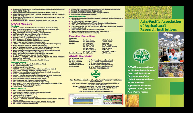 APAARI Flyer 2013