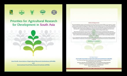 Priorities for Agricultural Research for Development in South Asia