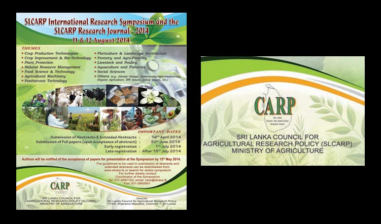 SLCARP International Research Symposium on 11-12 August, 2014 at Colombo, Sri Lanka