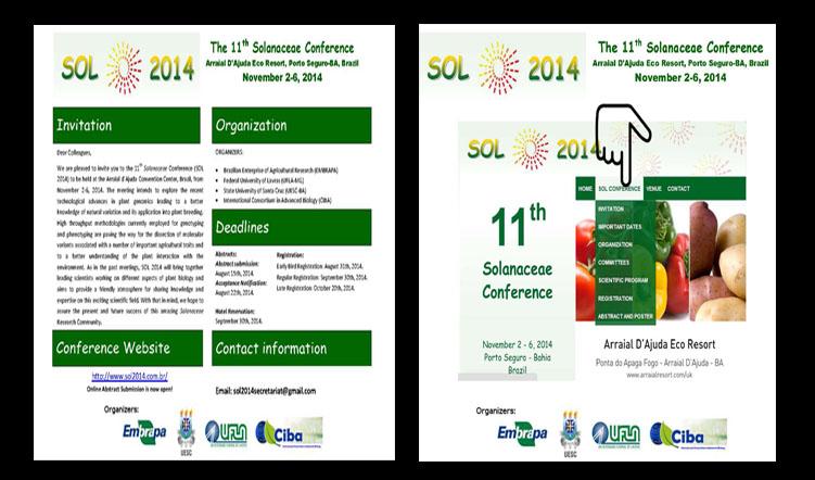 11th Solanaceae Conference, 2-6 November 2014, Bahia, Brazil