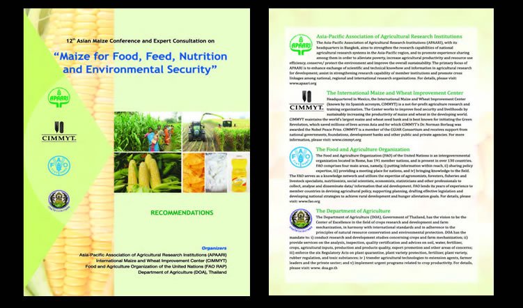 12th Asian Maize Conference 'Maize for Food, Feed, Nutrition and Environmental Security', 30 October-1 November 2014 – Proceedings
