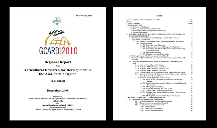 Regional Report on Agricultural Research for Development in the Asia-Pacific Region