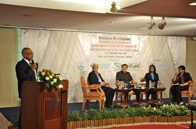 Regional Workshop on Development of Communication Strategies for Adoption of Agri-Biotechnology in the Asia-Pacific Region on 28-29 September 2015 at Chiangrai, Thailand