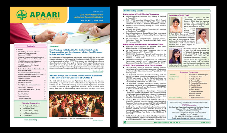 APAARI Newsletter, Vol. 25 (1), June 2016