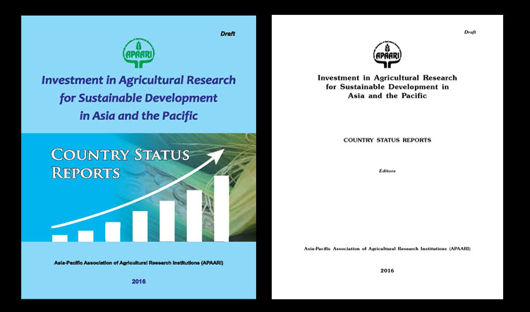 Investment in Agricultural Research for Sustainable Development in Asia and the Pacific, 2016