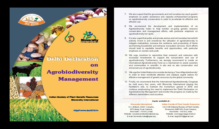 Delhi Declaration on Agrobiodiversity Management