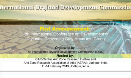 First Announcement: 13th International Conference on Development of Drylands: Converting Grey Areas into Green