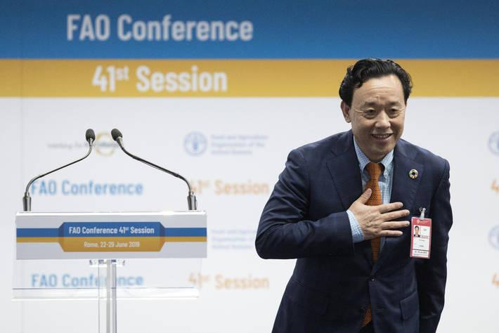 China's Qu Dongyu succeeds Brazil's Jose Graziano da Silva as FAO Director General