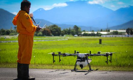 Drone sprayer used for various pesticide application @ IRRI