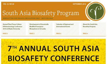 Newsletter September 2019 from South Asia Biosafety  Program (SABP)