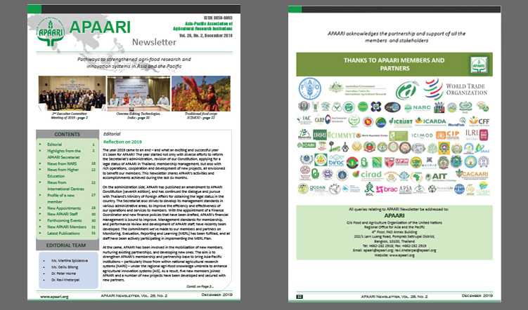 APAARI Newsletter, Vol. 28(2), December 2019