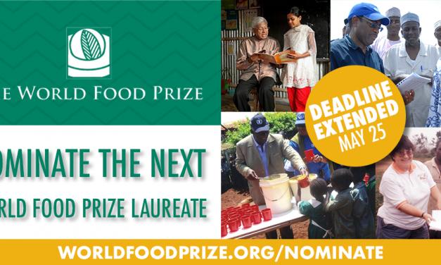World Food Prize Invitation to Nominate