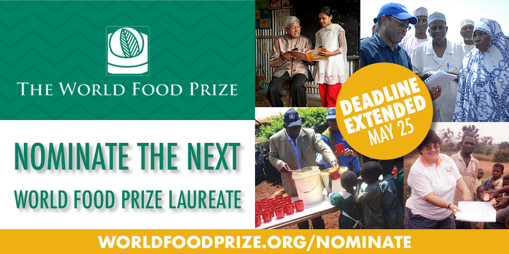 World Food Prize Invitation to Nominate