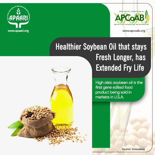 Healthier Soybean oil that stays fresh longer, has extended fry life.