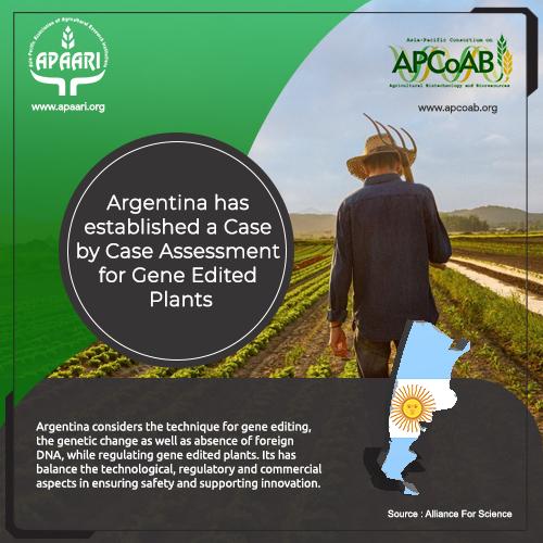 Argentina has established a Case by Case Assessment for Gene-Edited Plants