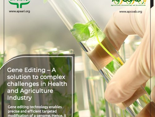 Gene Editing – A Solution to Complex Challenges in Health and Agriculture Industry