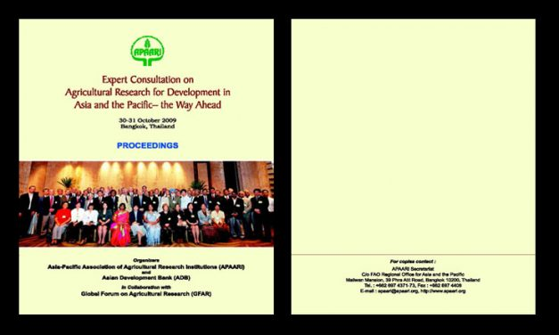 Expert Consultation on Agricultural Research for Development in Asia and the Pacific: The Way Ahead, 30-31 October 2009 – Proceedings