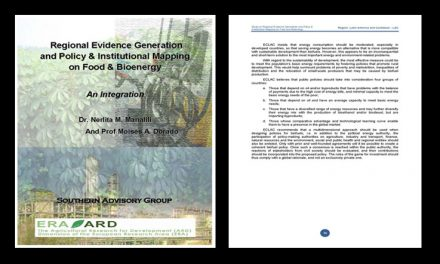 Regional Evidence Generation and Policy and Institutional Mapping on Food and Bioenergy