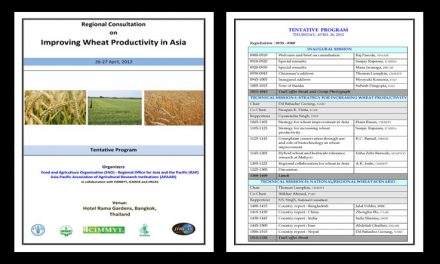 Regional Consultation on Improving Wheat Productivity in Asia, jointly organised by FAO RAP and APAARI in collaboration with CIMMYT and ICARDA, 26-27 April, 2012, Bangkok, Thailand