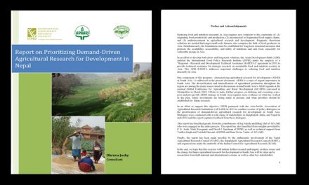 Report on Prioritization of Demand-Driven Agricultural Research for Development in Nepal, 2011