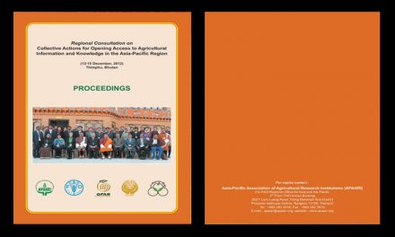 Regional Consultation on Collective Actions for Opening Access to Agricultural Information and Knowledge in the Asia-Pacific Region, 13-15 December 2012 – Proceedings