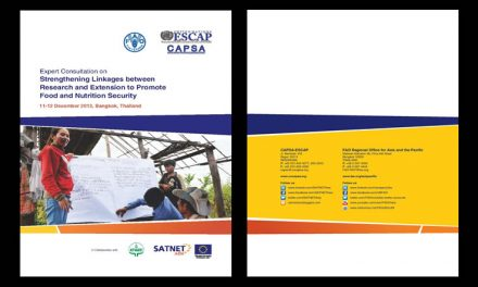 Expert Consultation on Strengthening Linkages between Research and extension to Promote Food and Nutrition Security, 11-12 December 2013 – Proceedings