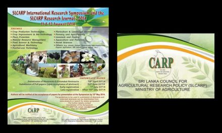 International Research Symposium of the Sri Lanka Council for Agricultural Research Policy, 11-12 August, 2014, Colombo, Sri Lanka
