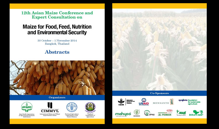 12th Asian Maize Conference 'Maize for Food, Feed, Nutrition and Environmental Security', 30 October-1 November 2014 – Abstracts