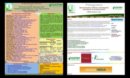 5th International Conference on Next Generation Genomics and Integrated Breeding for Crop Improvement, 18-20 February 2015, Hyderabad, India