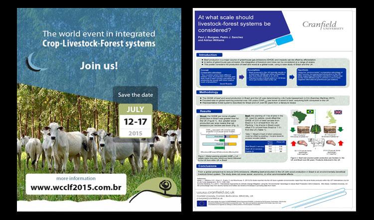 World Congress on Integrated Crop-Livestock-Forest Systems, 12-17 July 2015, Brasilia, Brazil