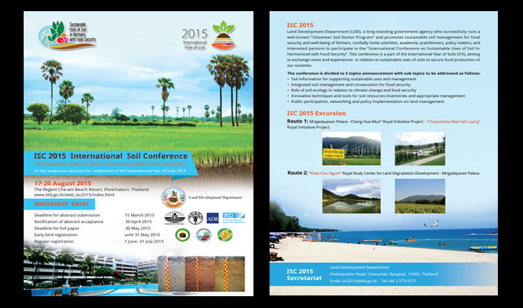 International Soil Conference on Sustainable Uses of Soil in Harmony with Food Security, 17-20 August 2015, Cha Am, Thailand