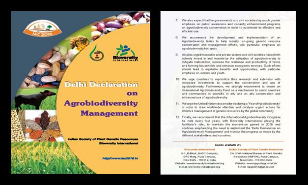 Delhi Declaration on Agrobiodiversity Management