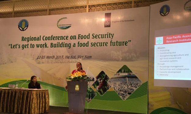 "APAARI participates in the Regional Conference on Food Security ""Let's get to work. Building a food secure future"" in Vietnam"