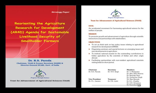 Reorienting the Agriculture Research for Development (AR4D) Agenda for Sustainable Livelihood Security of Smallholder Farmers