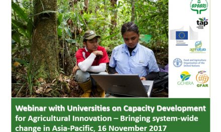 Webinar with Universities on Capacity Development for Agricultural Innovation, Bringing System-wide Change in Asia-Pacific, 16 November 2017