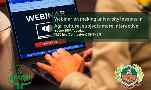 Webinar on Making University Lessons more Interactive, 4 June 2019