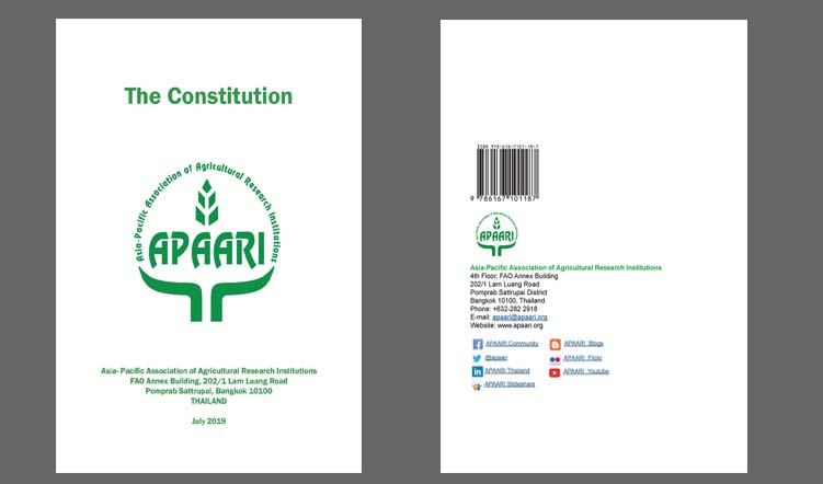 APAARI Constitution Seventh Edition – July 2019