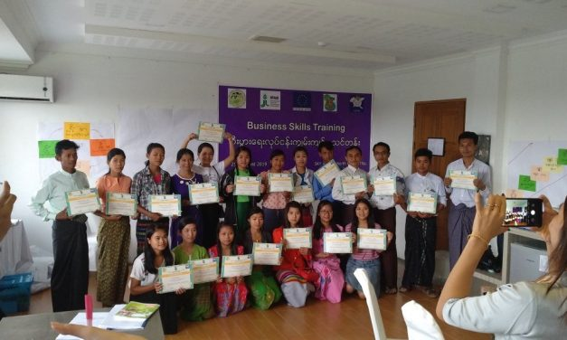 Training on practical business skills for the youth of Myanmar