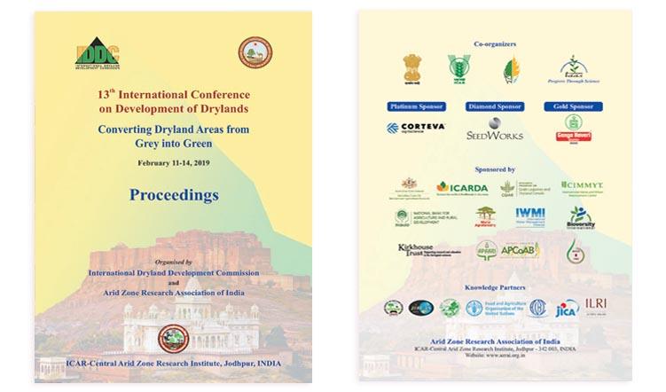 13th International Conference on Development of Drylands – Proceedings