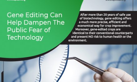 Gene Editing can Help Dampen the Public Fear of Technology