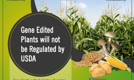 Gene Edited Plants will NOT be Regulated by USDA