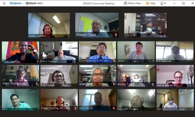 The first online Executive Committee Meeting of APAARI concluded successfully last month