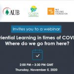Webinar: Experiential Learning in times of COVID 19: Where do we go from here?