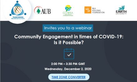 Webinar: Community Engagement in times of COVID 19: Is it Possible?