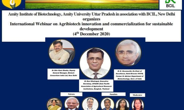 International Webinar on Agribiotech Innovation and Commercialization for Sustainable Development, 4 December 2020