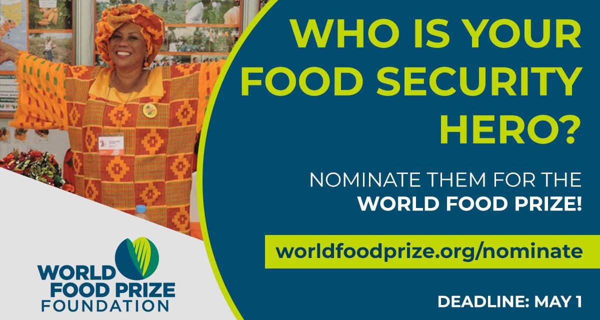 Nominations Webinar – World Food Prize 2022