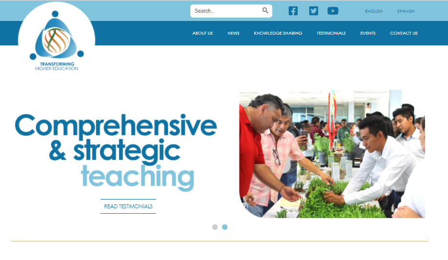 Transformation of Higher Education Project launched its new website